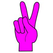 Peace  Hot Pink   Black