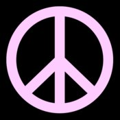Peace Sign  Pink Lady