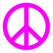 Peace Sign  Hot Pink