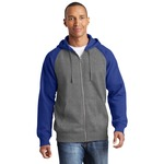 Adult Raglan Full Zip Sweatshirt