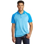 Adult RacerMesh Raglan Heather Block Polo