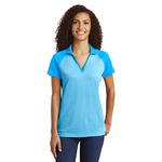 Ladies RacerMesh Raglan Heather Block Polo