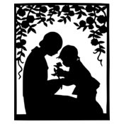 warszawianka Mother and child silhouette