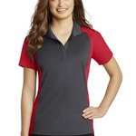 Ladies Colorblock Micropique Polo